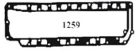 Force exhaust plate gasket, 4 cylinder pre 1989, Force 125 Chrysler 100-140