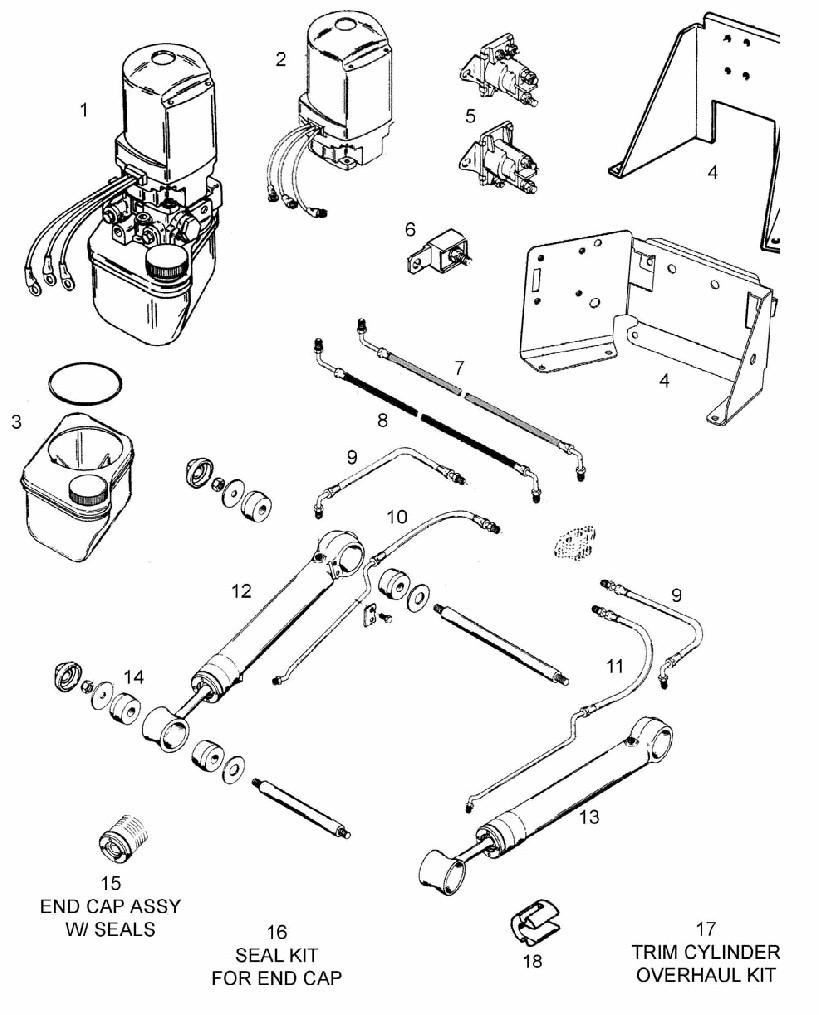 mercruiser trim pump wiring diagram mercruiser outdrive