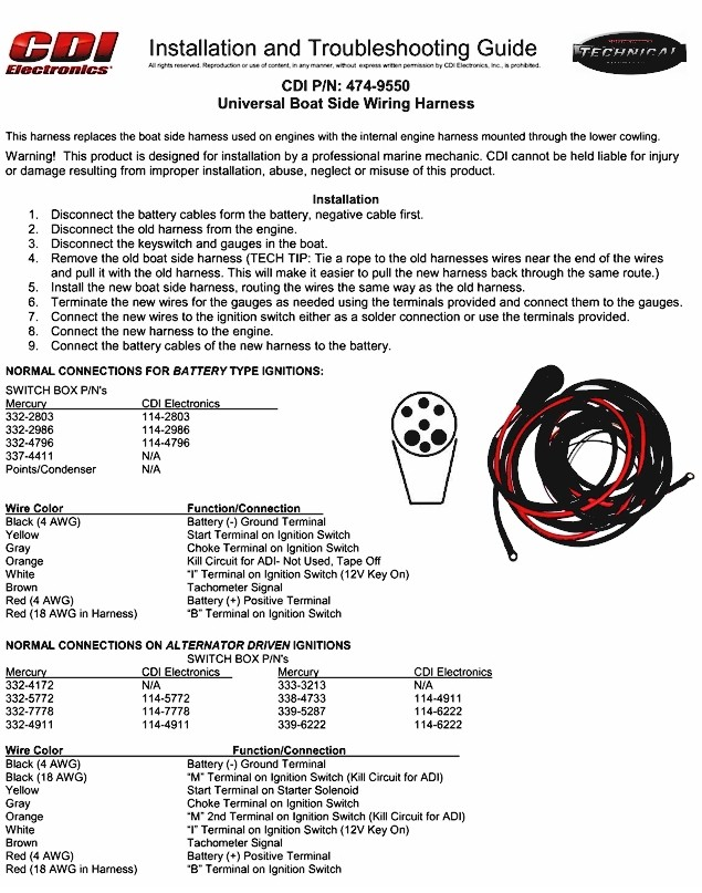 universal boat wiring harness mercury outboard wiring harness 50 HP Mercury Outboard Wiring Diagram at edmiracle.co