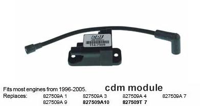 Cdm module, 4 pin, 20 HP Force outboard motor, 1996-99 models with Serial # OE138600 thru OE369299.